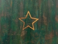 Rusty star, green