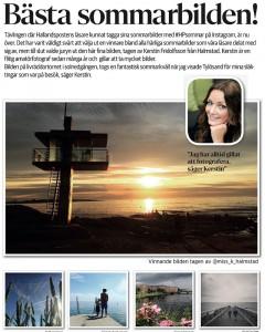 Jag vann Hallandspostens fototävling, augusti 2016.