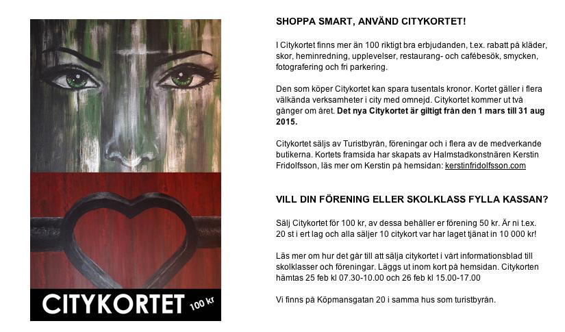 Nya Citykortet i Halmstad, 2015